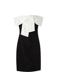 Vestido tubo de encaje en negro y blanco