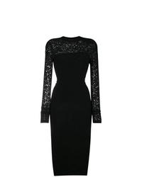 Vestido tubo de encaje negro de Versace