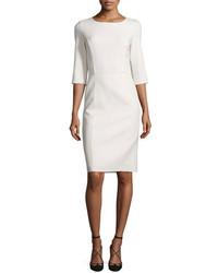 Vestido tubo de lana blanco