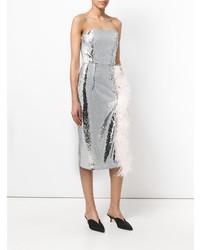 Vestido tubo de lentejuelas plateado de 16Arlington