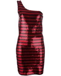 Vestido Tubo de Lentejuelas Rojo de Saint Laurent