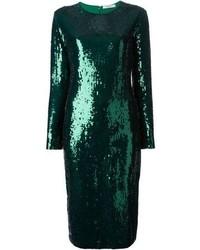 Vestido tubo de lentejuelas verde
