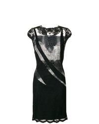 Vestido tubo de malla negro de Olvi´S