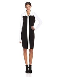Vestido tubo en negro y blanco de Calvin Klein
