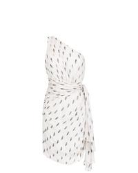 Vestido tubo estampado blanco de Tufi Duek