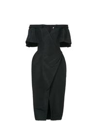 Vestido tubo negro de Carolina Herrera