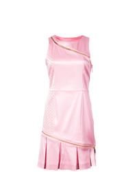Vestido tubo plisado rosado de Thomas Wylde