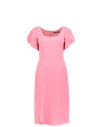 Vestido tubo rosado de Reinaldo Lourenço