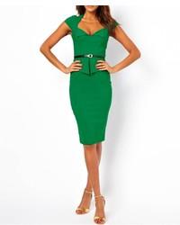 Vestido tubo verde