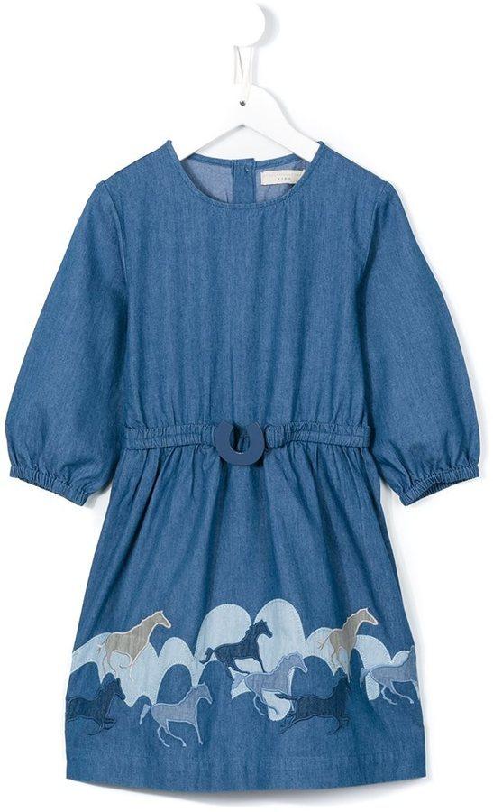 Vestido Vaquero Estampado Azul de Stella McCartney