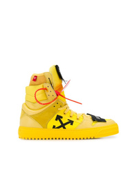 Zapatillas Altas Amarillas De Off White Mex 13 554 Farfetch Com