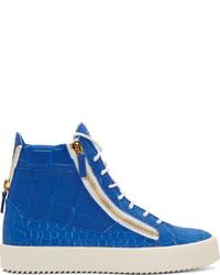 Zapatillas altas azules
