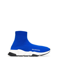 Zapatillas altas azules de Balenciaga
