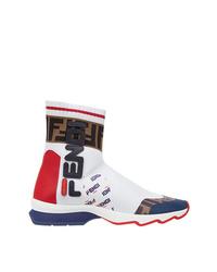 Zapatillas altas blancas de Fendi