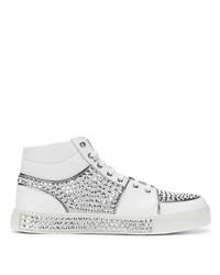 Zapatillas altas con adornos blancas de Balmain