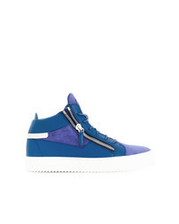 Zapatillas altas de ante azules