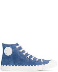 Zapatillas altas de ante azules de Chloé