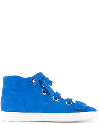 Zapatillas altas de ante azules de Derek Lam