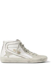 Zapatillas altas de ante en beige