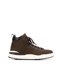 Zapatillas altas de ante en marrón oscuro de Woolrich
