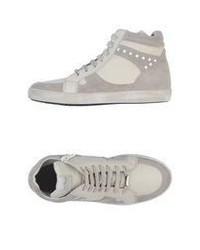 Zapatillas altas de ante grises