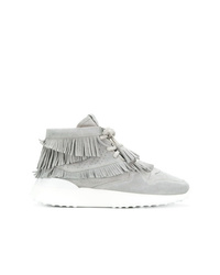 Zapatillas altas de ante grises de Tod's