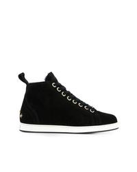 Zapatillas altas de ante negras de Jimmy Choo