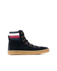 Zapatillas altas de ante negras de Tommy Hilfiger