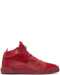 Zapatillas altas de ante rojas