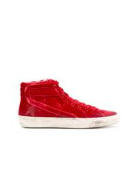 Zapatillas altas de ante rojas de Golden Goose Deluxe Brand