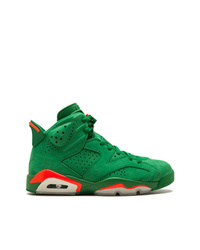 Zapatillas altas de ante verdes de Jordan