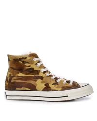 Zapatillas altas de camuflaje marrónes de Converse