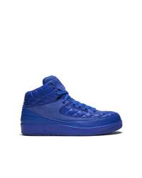 Zapatillas altas de cuero azules de Jordan