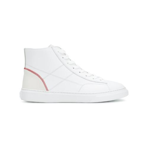 Zapatillas altas de cuero blancas de Hogan
