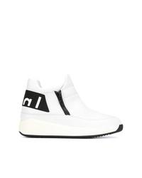 Zapatillas altas de cuero blancas de Högl