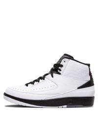 Zapatillas altas de cuero blancas de Jordan