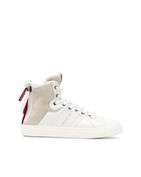 Zapatillas altas de cuero blancas de Moncler