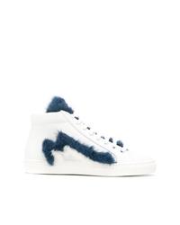 Zapatillas altas de cuero blancas de Mr & Mrs Italy