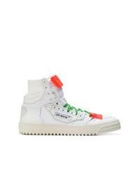 Zapatillas altas de cuero blancas de Off-White