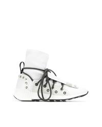 Zapatillas altas de cuero blancas de Sergio Rossi