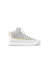 Zapatillas altas de cuero blancas de Swear
