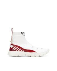 Zapatillas altas de cuero blancas de Valentino