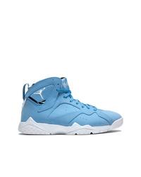 Zapatillas altas de cuero celestes de Jordan