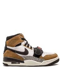 Zapatillas altas de cuero en multicolor de Jordan