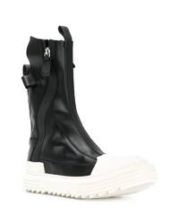Zapatillas altas de cuero en negro y blanco de Artselab