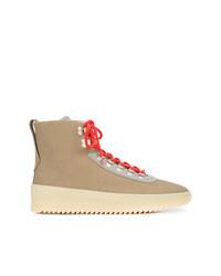 Zapatillas altas de cuero marrón claro de Fear Of God