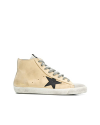 Zapatillas altas de cuero marrón claro de Golden Goose Deluxe Brand