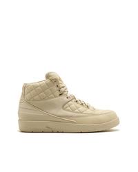 Zapatillas altas de cuero marrón claro de Jordan