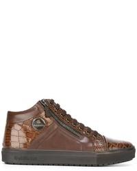 Zapatillas altas de cuero marrónes de Baldinini