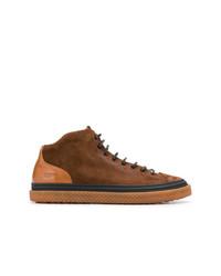 Zapatillas altas de cuero marrónes de Buttero
